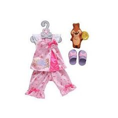 """My First Disney Princess Aurora's Royal Sleepwear Toddler Doll Outfit Fits 14"""" Doll"""