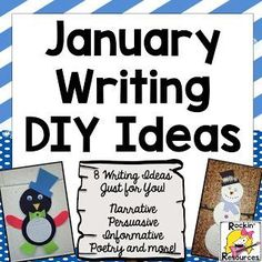 8 Writing Ideas for January-  This teacher gives directions for everything you need to make each of these writing ideas a success in your classroom!