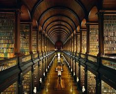 Trinity College Library, Dublin. I still have the olfactory memory of entering these halls.