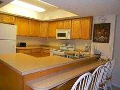 Kitchen in a 3 bedroom condo