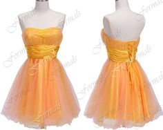 Mini Short Strapless Sweetheart Satin and Tulle by Formals on Etsy, $119.00
