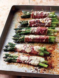Asparagus and Prosciutto bundles. Make It Ahead @ Ina Garten