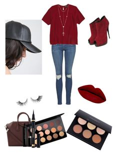"""""""Cherry"""" by jaydapolise on Polyvore featuring Topshop, Giuseppe Zanotti, Givenchy, MAC Cosmetics, House of Harlow 1960, Yves Saint Laurent and Marc Jacobs"""
