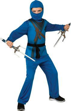 Blue Ninja Boys Fancy Dress Halloween Martial Arts Japanese Samurai Kids Costume | eBay SIZE 8-10 YEARS £12.50 HE NOW HAS ThIS