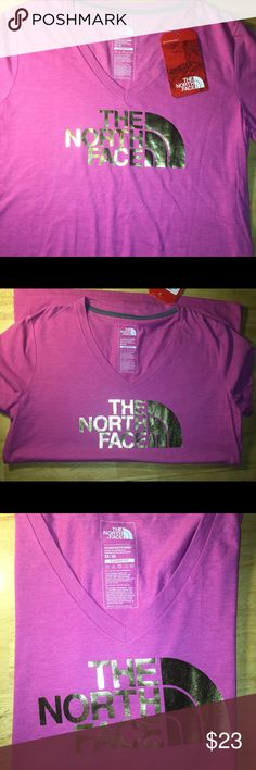 The North Face Women's V-neck top MEDIUM BNWTS Brand new material has a good weight not thin or flimsy! The North Face Tops Tank Tops