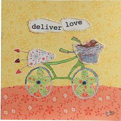 Deliver Love Canvas Wall Plaque