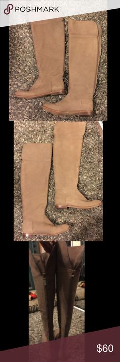 "WYTHE NY Rachel Over-the-Knee Boots!! 38.5EU/8.5US Just lovely Wythe NY taupe tall boots! 👢👢👢👢Size 8.5 EU/8.5 US. True to size. Zippy up back of boot, stacked low heel. Able to fold-over top section of boot! 16.5"" height, 3/4"" heel height, 16.5 calf circumference. Soft nubuck, very similar to suede! Beautiful color and sooooo so comfortable! Also in great condition! Happy Shopping! 🦄🦄 Wythe NY Shoes Over the Knee Boots"