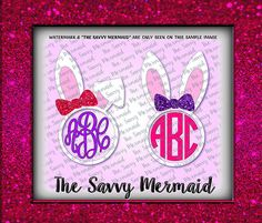An Instant Download of a Very cool, Easter Bunny themed, Monogram Frame with a Bow!  Use with Silhouette or Cricut or as a Printable Iron On Design!  Svg Eps Dxf Png Jpg