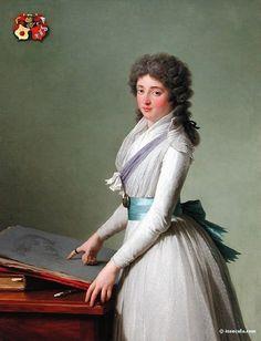 """""""Baronne de Chalvet-Souville"""", 1793, by François-André Vincent (French, 1746-1813)"""