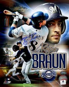 Ryan Braun Signed 8x10 Photo #SportsMemorabilia #MilwaukeeBrewers