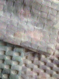 Weave by Johanna de Ru Motifs Textiles, Weaving Textiles, Textile Prints, Textile Design, Fabric Design, Pattern Design, Visual Texture, Textile Texture, Home Textile