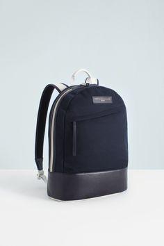 WANT LES ESSENTIELS DE LA VIE Kastrup backpack in Navy/White SS13
