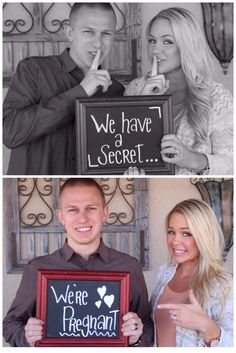 Pregnancy reveal, baby Hemme, we have a secret, we are having a baby!!!! Chalkboard announcement .
