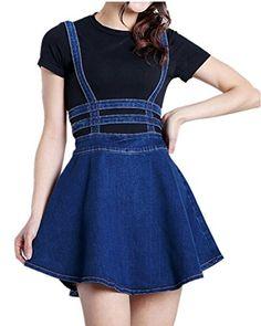 Mullsan® Women's Pleated Short Braces Suspender Denim Skirt Mullsan http://www.amazon.com/dp/B0144CJEJW/ref=cm_sw_r_pi_dp_.K8bxb04C2R82