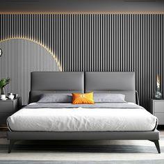 Inspirational Scandinavian bedroom interior ideas – Home Decor Hotel Bedroom Design, Design Your Bedroom, Bedroom Furniture Design, Home Room Design, Home Bedroom, Bedrooms, Interior Ideas, Interior Design, Headboard Designs