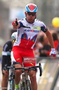 Alexander Kristoff of Norway and Team Katusha crosses the line in first place in the 103rd...