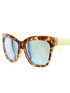 Flashing Lights Mirrored Tortoiseshell Sunglasses