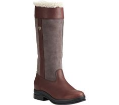 Women's Ariat Windermere Fur H2O Knee High Boot - Dark Brown Full Grain Leather/Suede - (RM-Regular) with FREE Shipping & Exchanges. Whether you're saddling up or working the land, the Ariat Windermere Fur H2O Knee High Boot will