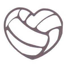 PNM - Volleyball Heart Layered : Scrappin Sports Stuff