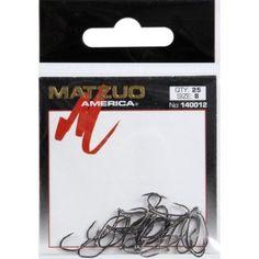 Matzuo Sickle Baitholder Offset Down Eye Hook, Black Chrome, Pack of 25, Multicolor