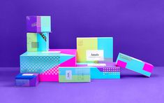 Candy coloured brand identity feel desain Amado01