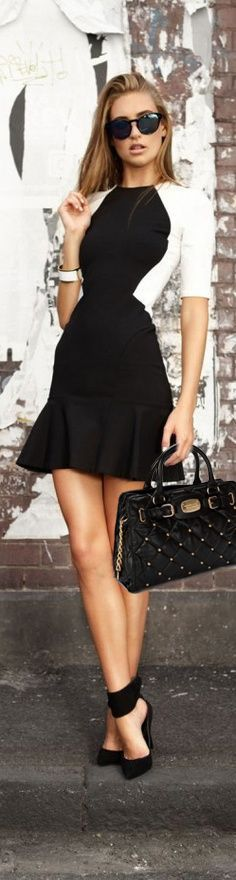 I love this dress and shoe combo! #Trendy #Classy