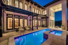 The generous pool deck, featuring a heated pool and hot tub, and multiple verandas offer respite for sun and shade lovers alike.