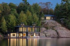 'Muskoka boathouse/party pad.' Architecture and design, Wayne Swadron Architects Ltd. Peter A. Sellar - Architectural Photographer, Toronto, ON.