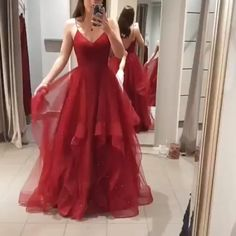 Princess Straps V Neck Red Long Prom Dress 2019 Princess Straps V-Ausschnitt Rot Langes Abendkleid 2019 # # – Cheap Red Prom Dresses, Stunning Prom Dresses, Grad Dresses, Ball Dresses, Elegant Dresses, Pretty Dresses, Homecoming Dresses, Beautiful Dresses, Ball Gowns