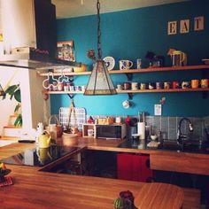 ダイニングテーブル /ヴィンテージ/照明/食器/北欧/キッチン…などのインテリア実例 - 2014-11-30 08:54:18 | RoomClip(ルームクリップ)