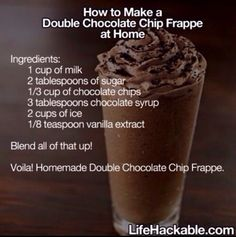 How To Make  The Star Bucks Double Chocolatey Chip Frapuccino