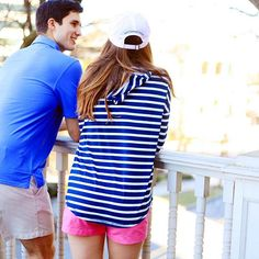 Because preppy couples need to stay stylish and nauti during spring break, am I right?? Shop new spring arrivals from Southern Tide. #SouthernTide #NewArrivals #Prep