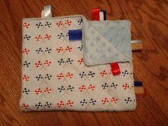 Checkered Flag Taggie Blanket by BlanketsbySheryl on Etsy, $15.00