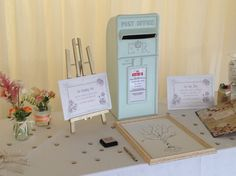 The Mint Green Postbox makes for a subtle addition to any Wedding