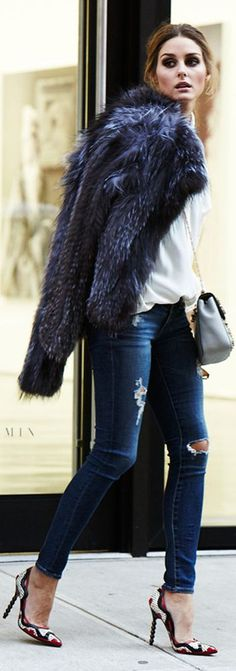 It's pretty but I wish she would be an advocate for faux fur. So many people look to her for style ideas.