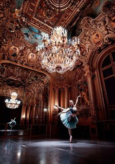 And, something magical...English National Ballet Principal Laurretta Summerscales rehearsing in the Palais Garnier studios for Le Corsaire, 2016, photo by Laurent Liotardo. https://musetouch.org/