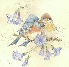 Nature in Miniature II by Carolyn Shores Wright Watercolor Bird, Watercolor Paintings, Bird Paintings, Bird Clipart, Realistic Paintings, China Painting, Bird Illustration, Bird Pictures, Decoupage Paper
