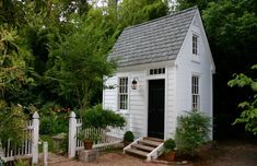 , but after seeing this cute garden shed, my mind has been spinning with thoughts of how I can remodel our little garden shed that was once a chicken coop. Repost from using Outdoor Buildings, Small Buildings, Cabana, Low Maintenance Garden Design, Backyard Sheds, Garden Sheds, Outdoor Sheds, Garden Paths, Shed To Tiny House