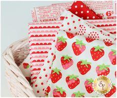 Sunrise Studio 2 Strawberry FQ Set from Lakehouse Dry Goods | Shabby Fabrics