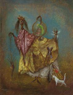1949 Leonora Carrington (1917~2011, English-born Mexican artist, surrealist painter, and novelist)