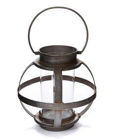 Look at this #zulilyfind! Spherical Glass Lantern #zulilyfinds