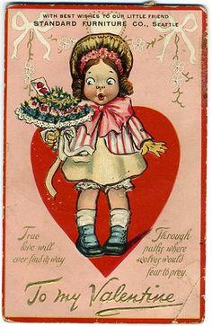 Items similar to Antique Tucks Advertising Valentine Postcard Standard Furniture Seattle on Etsy Valentines Greetings, Vintage Valentine Cards, Vintage Greeting Cards, Vintage Postcards, Printable Valentine, Valentines For Kids, Happy Valentines Day, Valentine Ideas, Retro Images