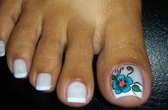 Mani Pedi, Manicure And Pedicure, Gel Nails, New Nail Art Design, Nail Art Designs, Pretty Toes, Toe Nail Art, Blue Nails, Trendy Nails