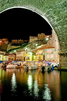 """""""le vallon des Auffes"""" in Marseille, in south of France. Places Around The World, Oh The Places You'll Go, Travel Around The World, Places To Travel, Travel Destinations, Places To Visit, Dream Vacations, Vacation Spots, Wonderful Places"""