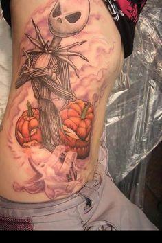 Jack Skellington tattoo.