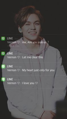 ✨Vernon as your boyfriend✨ Seventeen Memes, Seventeen Wonwoo, Woozi, Mingyu, Yolo, Vernon Chwe, Message Wallpaper, Boyfriend Kpop, Chanyeol