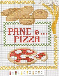 Point de croix ❤️*❤️ pane-pizza