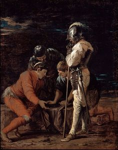 Salvator Rosa  (1615–1673) Soldiers Gambling  typePaintingDateProbably 1656-8Mediumoil on canvas OilDimensionsHeight: 771 mm (30.35 in). Width: 616 mm (24.25 in).Current location  Dulwich Picture Gallery