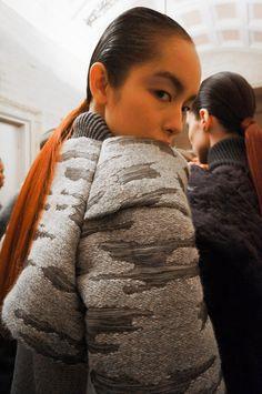 Backstage at Alexander Wang F/W 13