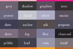 Know your SHADES OF GREY